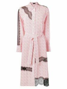 Joseph floral lace shirt dress - Neutrals