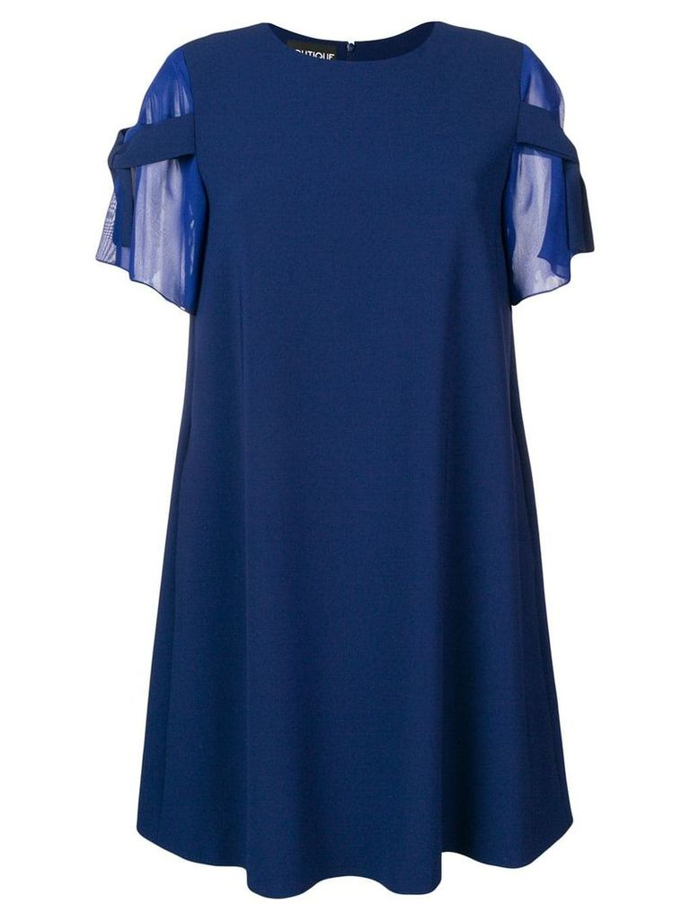 Boutique Moschino shift dress with bow sleeves - Blue