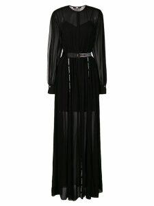 Karl Lagerfeld belted maxi shirt dress - Black