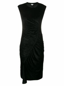 Kenzo asymmetric ruched dress - Black