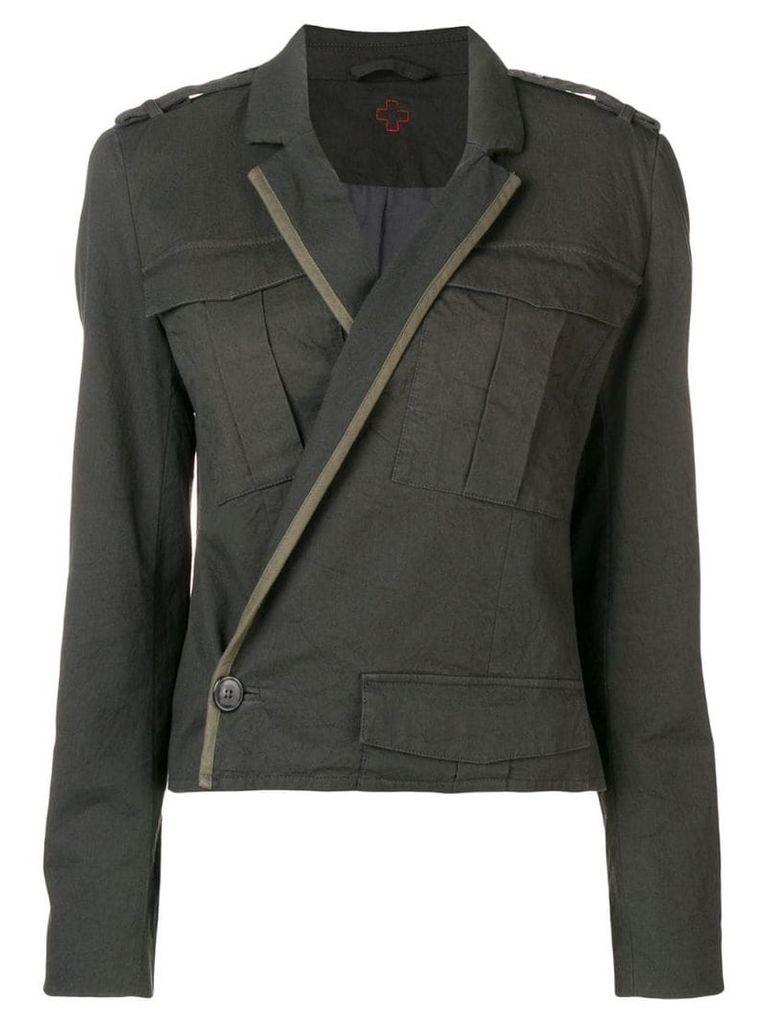 A.F.Vandevorst wrap fitted jacket - Green