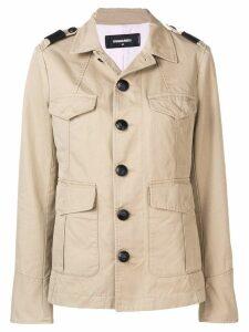 Dsquared2 long sleeved safari jacket - Neutrals