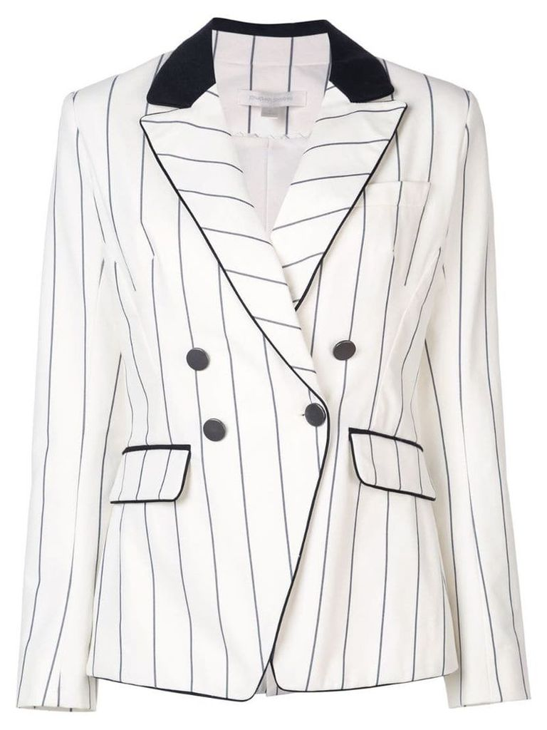 Jonathan Simkhai striped blazer - White