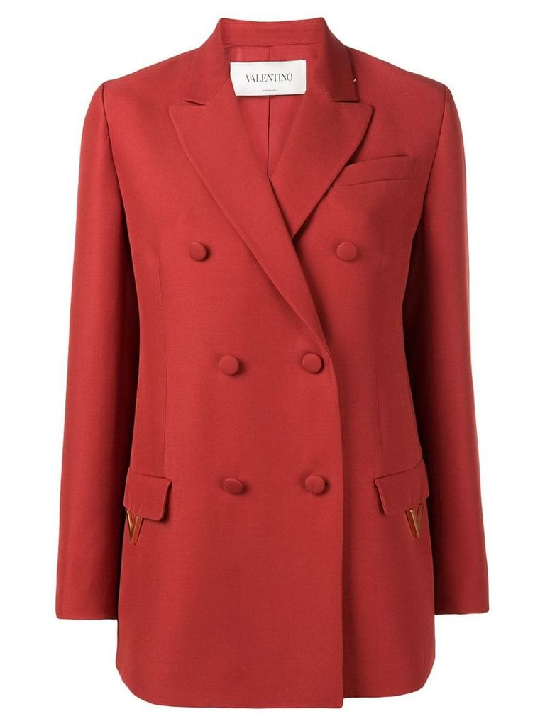 Valentino double breasted blazer - Red