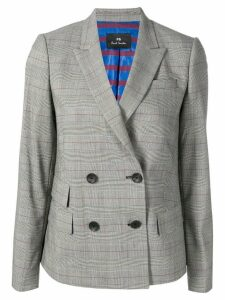 PS Paul Smith double breasted check blazer - Grey