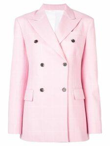 Calvin Klein 205W39nyc grid pattern blazer - Pink