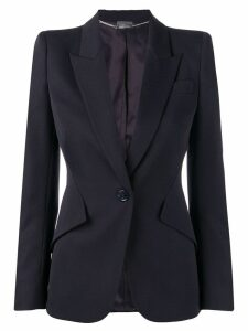 Alexander McQueen structured blazer jacket - Blue