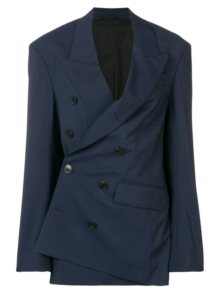 A.F.Vandevorst asymmetric tailored blazer - Blue