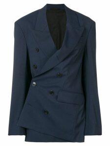 A.F.Vandevorst asymmetric tailored blazer - Blue
