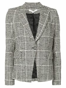 Veronica Beard houndstooth check blazer - Black