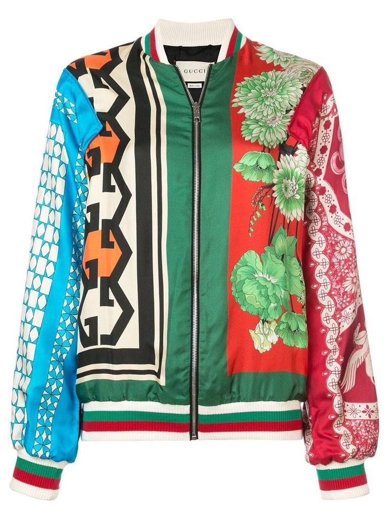 Gucci GG floral print bomber jacket - Multicolour