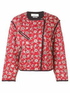 Isabel Marant Étoile floral bomber jacket - Red