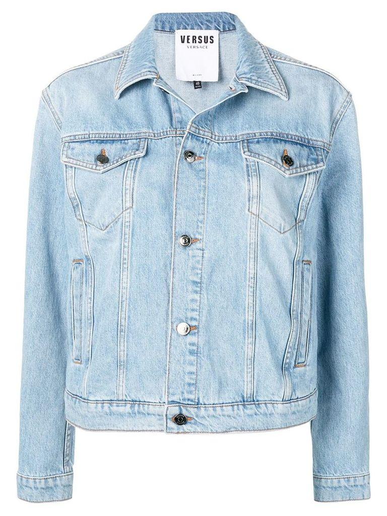 Versus cropped denim jacket - Blue