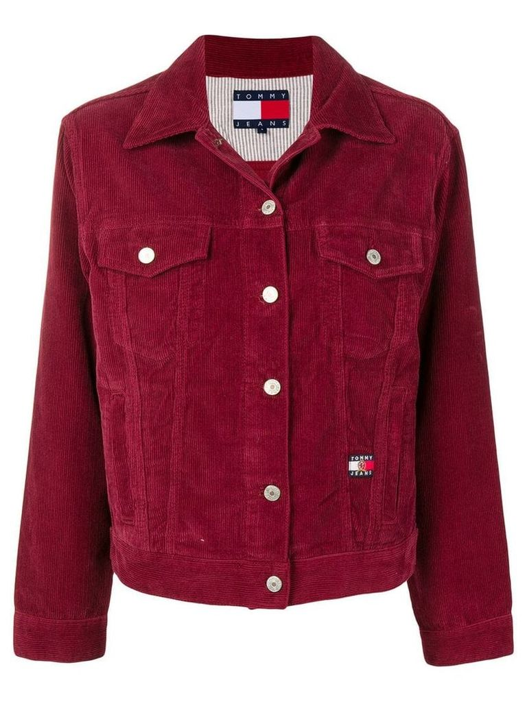 Tommy Jeans basic corduroy jacket - Red