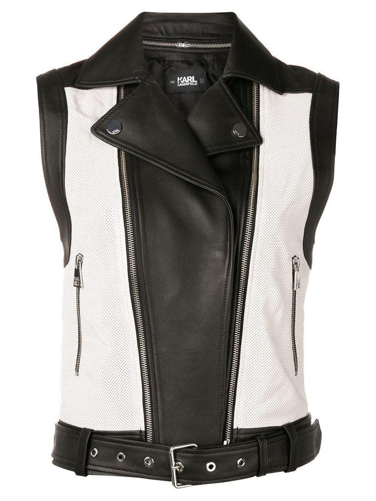 Karl Lagerfeld colour block vest - Black