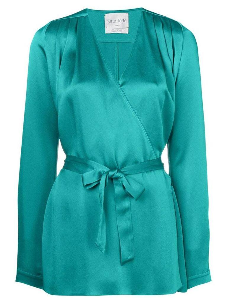 Forte Forte tie waist blouse - Green