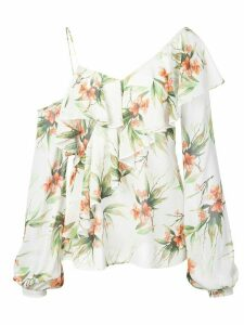 Patbo Wild Flower Cold Shoulder blouse - White