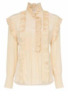 Chloé ruffle detail silk blouse - Neutrals