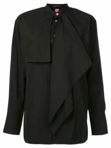 Y's layered frill shirt - Black