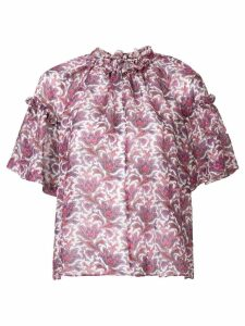 Isabel Marant gathered printed top - Purple
