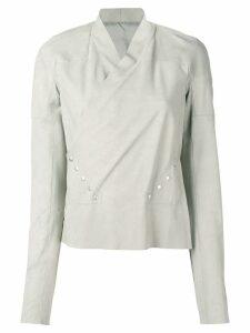 Rick Owens wrap blouse - Grey