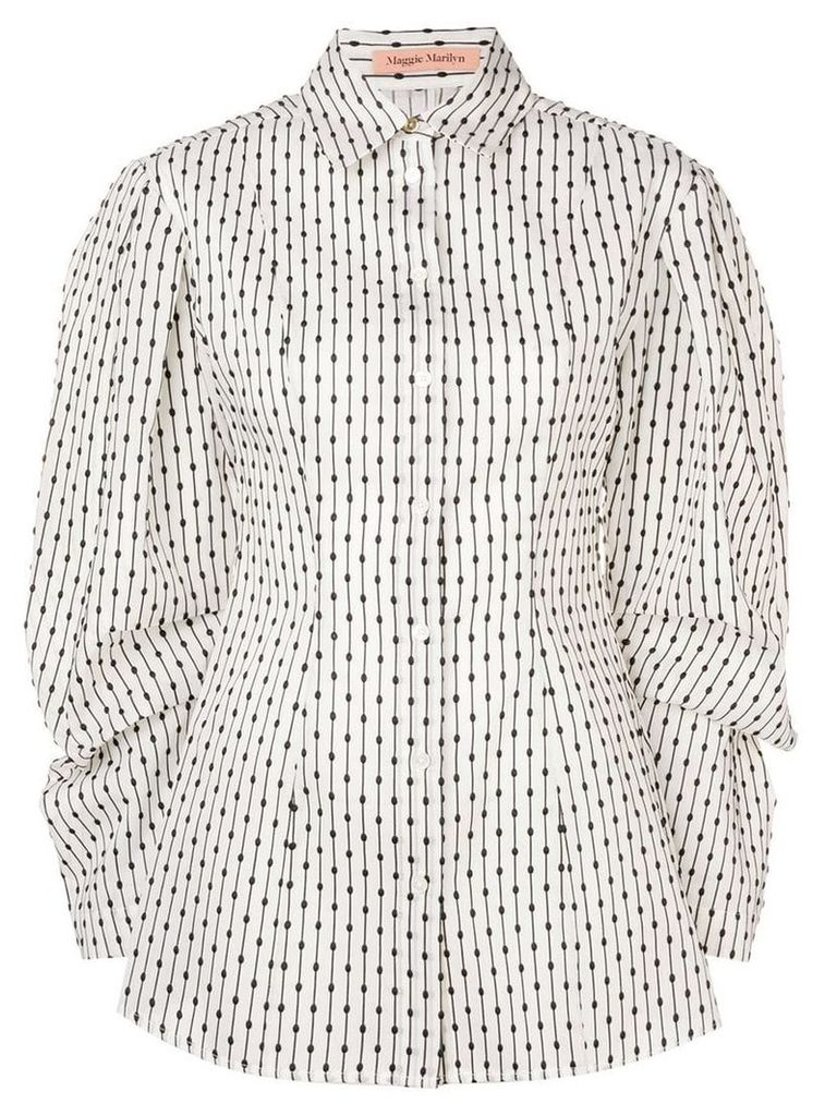 Maggie Marilyn dotted wide sleeve blouse - Neutrals