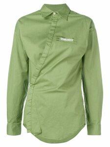 Dsquared2 asymmetric shirt - Green