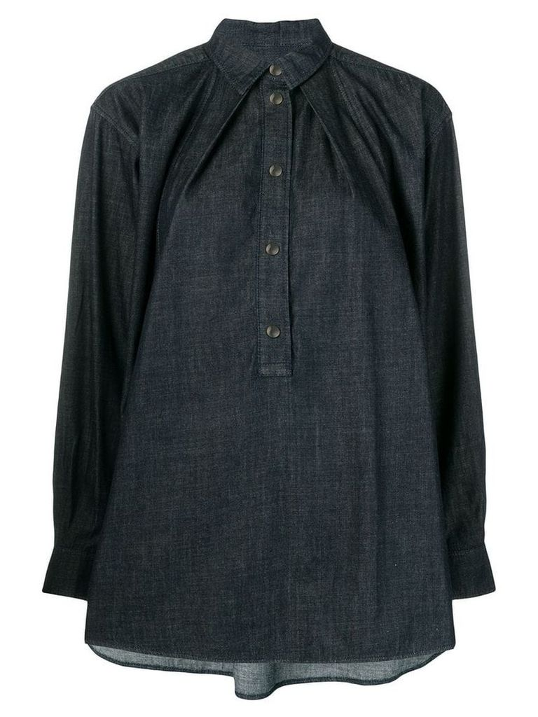 Marni pointed collar denim shirt - Blue