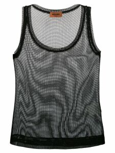 Missoni sheer knitted vest top - Black