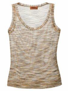 Missoni fine knit tank top - Neutrals