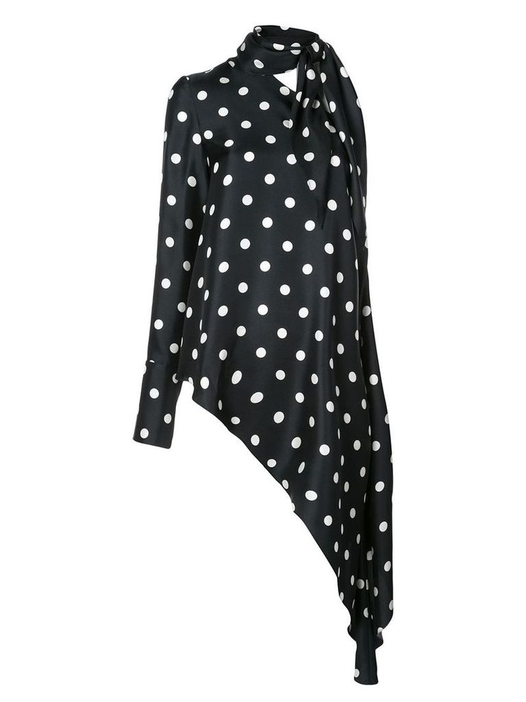 Monse asymmetric polka dot top - Blue
