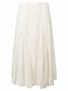 Chloé lace detail skirt - White