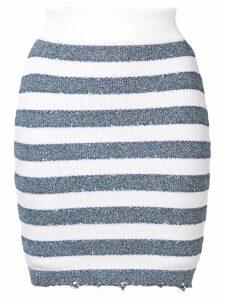 Balmain striped skirt - Blue