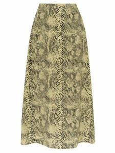 Sandy Liang snake print silk skirt - Neutrals