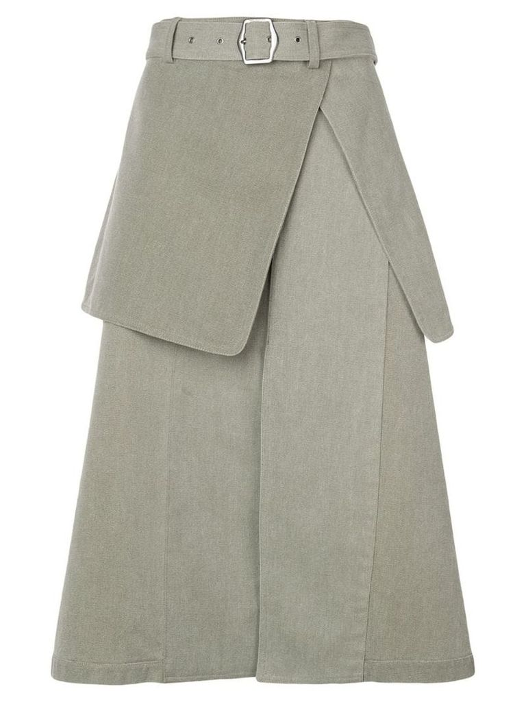 Sies Marjan layered midi skirt - Green