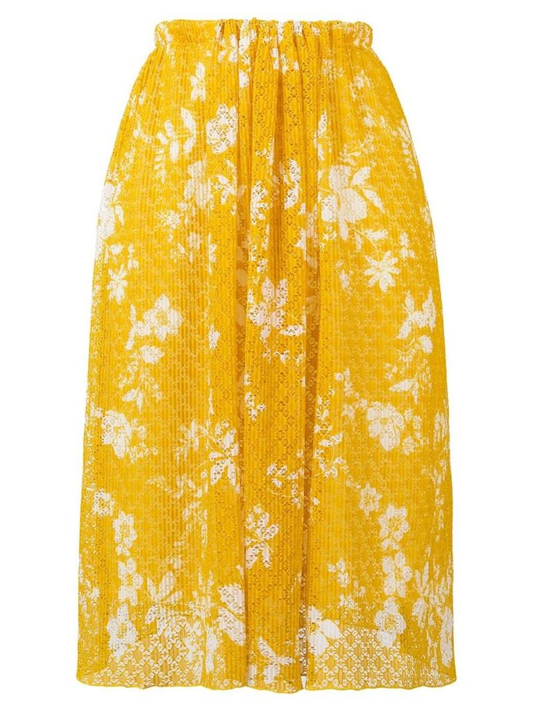 See By Chloé lace pattern skirt - Yellow