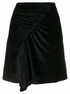 Kenzo ruched A-line skirt - Black