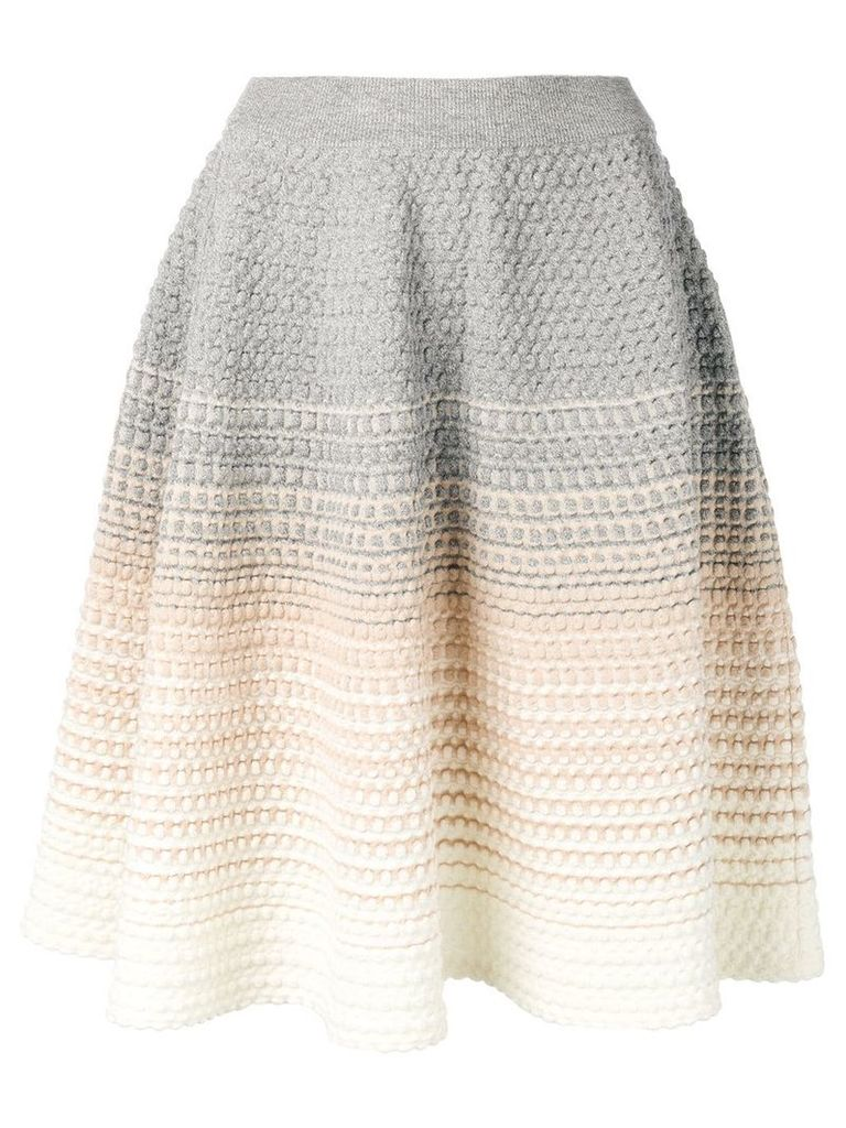 Bottega Veneta degradé knit skirt - White