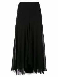 Fuzzi flared midi skirt - Black