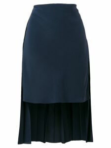 Chloé elongated back skirt - Blue