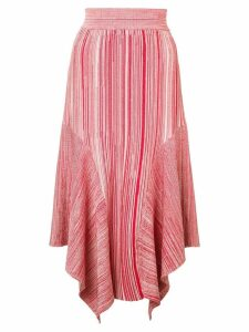 Yigal Azrouel melange knit skirt - Red
