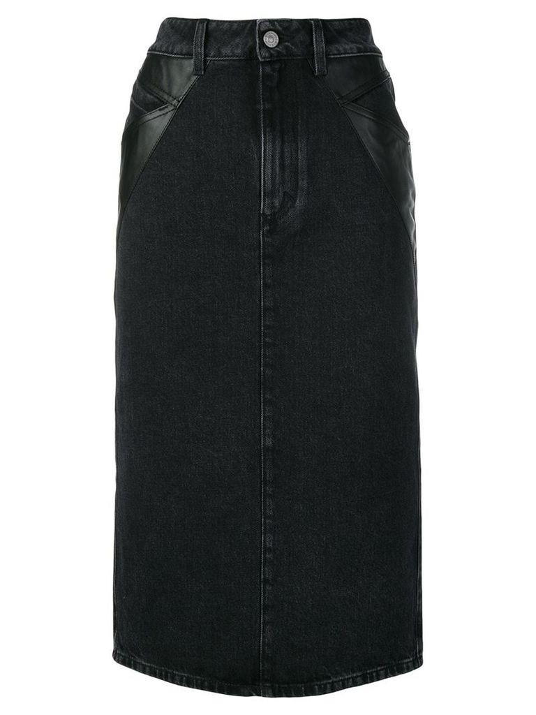 Givenchy denim midi pencil skirt - Black