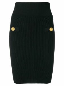 Balmain knitted pencil skirt - Black