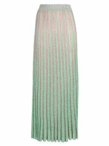 Missoni long knitted pleated skirt - Green