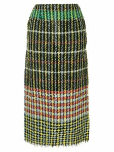 Ports 1961 checked tweed skirt - Black