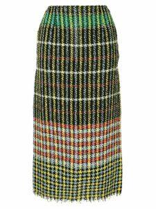 Ports 1961 checked tweed skirt - Black