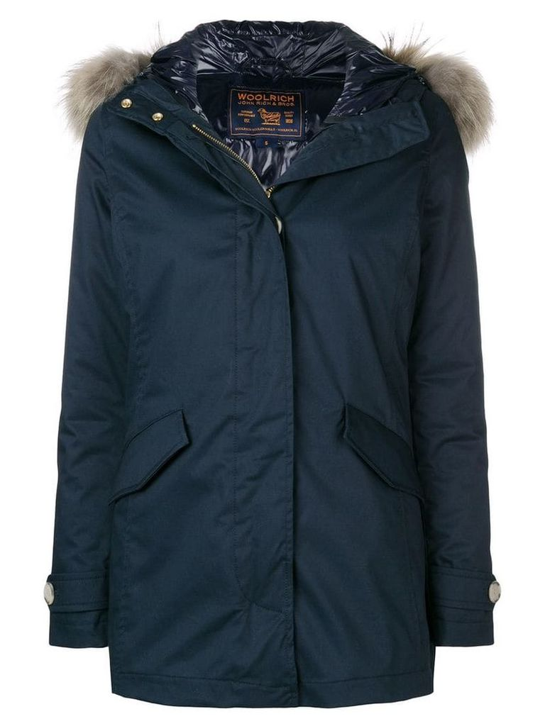 Woolrich quilted short parka - Blue
