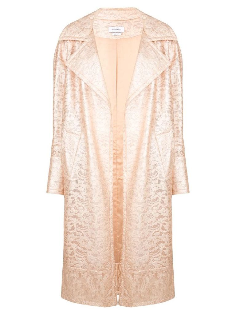 Yigal Azrouel lace trench coat - Pink