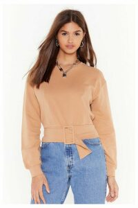 Casual But Make It Fashion Belted Sweater