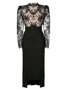 Alexander McQueen lace detail fitted dress - Black